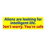 Aliens Looking Wall Decal