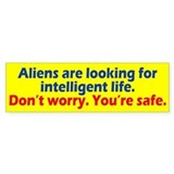 Aliens Looking Bumper Sticker
