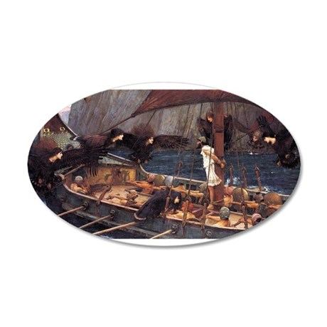 Ulysses and the Sirens 38.5 x 24.5 Oval Wall Peel