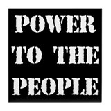 Power to the People Tile Coaster