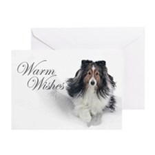 Warm Wishes Sheltie Xmas Cards (Pk of 20)