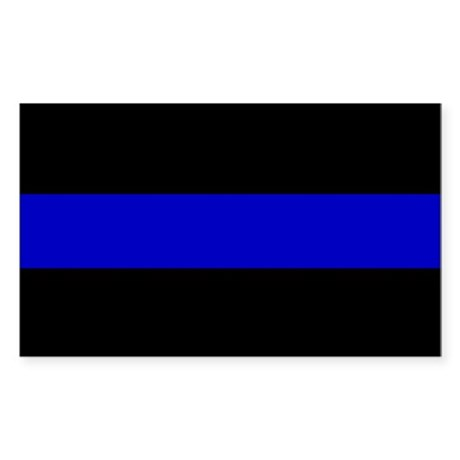 The Thin Blue Line Sticker (Rectangle)