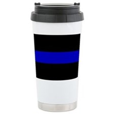 The Thin Blue Line Ceramic Travel Mug
