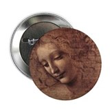 "Female Head 2.25"" Button"