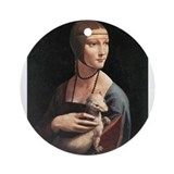 Lady with an Ermine Ornament (Round)