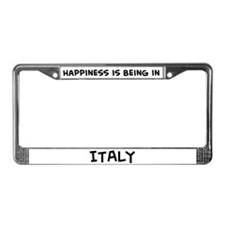 Happiness is Italy License Plate Frame