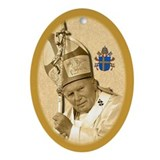Pope John Paul II Oval Ornament