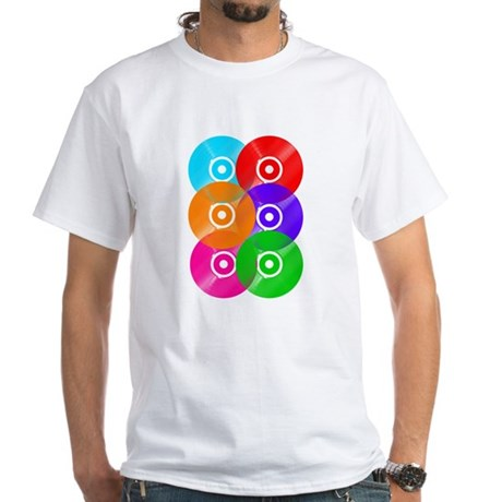 Record Colors White T-Shirt