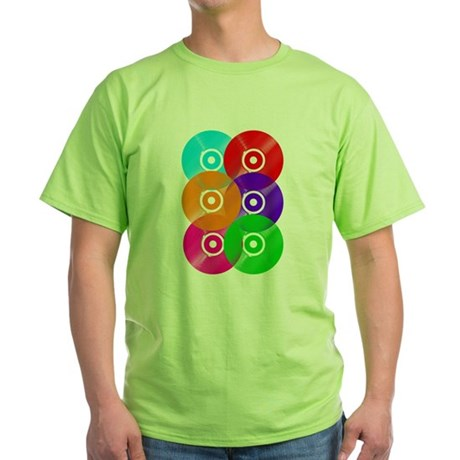 Record Colors Green T-Shirt