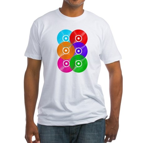 Record Colors Fitted T-Shirt