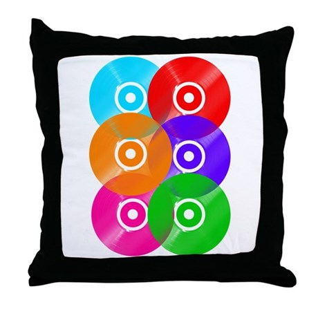 Record Colors Throw Pillow