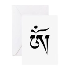 Aum in Tibetan Script Greeting Card