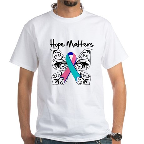 Thyroid Cancer Hope Matters White T-Shirt