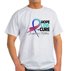 HopeLoveCureThyroidCancer Light T-Shirt