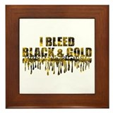 Bleed Black & Gold Framed Tile