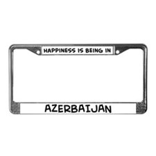 Happiness is Azerbaijan License Plate Frame