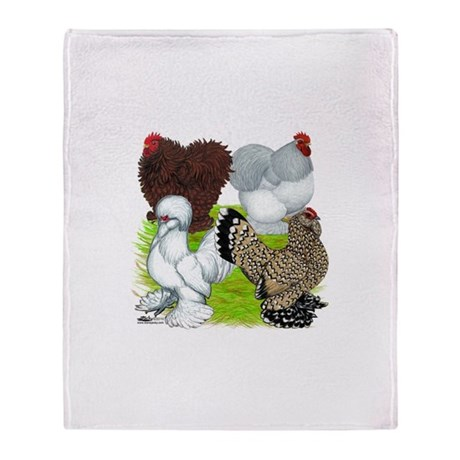 Feather-legged Bantams Throw Blanket