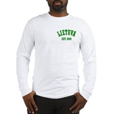 Classic Lietuva Est. 1009 Long Sleeve T-Shirt