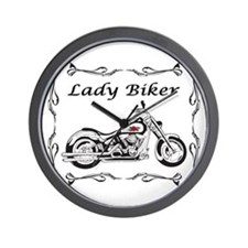 Lady Biker II Wall Clock