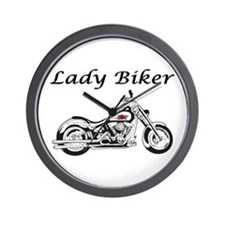 Lady Biker I Wall Clock