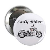 "Lady Biker I 2.25"" Button"