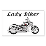 Lady Biker I Decal
