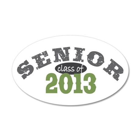 Senior Class of 2013 38.5 x 24.5 Oval Wall Peel