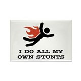 I do all my own stunts Rectangle Magnet (10 pack)