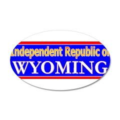 Wyoming-2 38.5 x 24.5 Oval Wall Peel