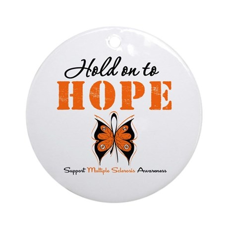 Multiple Sclerosis Hope Ornament (Round)