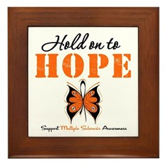 Multiple Sclerosis Hope Framed Tile