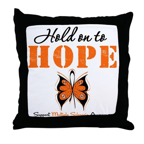 Multiple Sclerosis Hope Throw Pillow