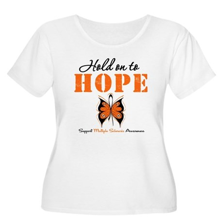 Multiple Sclerosis Hope Women's Plus Size Scoop Ne