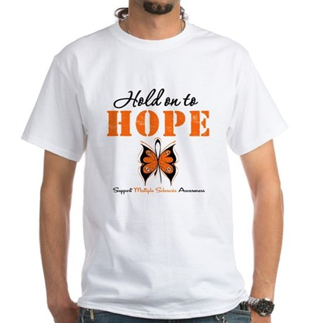 Multiple Sclerosis Hope White T-Shirt