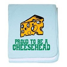 Proud Cheesehead baby blanket