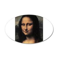 Mona Lisa (detail) 38.5 x 24.5 Oval Wall Peel