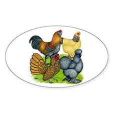 Purebred Bantam Quartet Decal