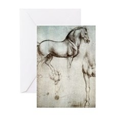 Study of Horses Greeting Card