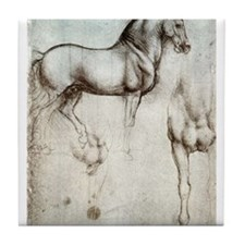 Study of Horses Tile Coaster