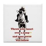 Show Jumper Tile Coaster