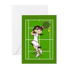 Cute Tennis Girl Greeting Card