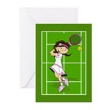 Cute Tennis Girl Greeting Card (Pk of 10)