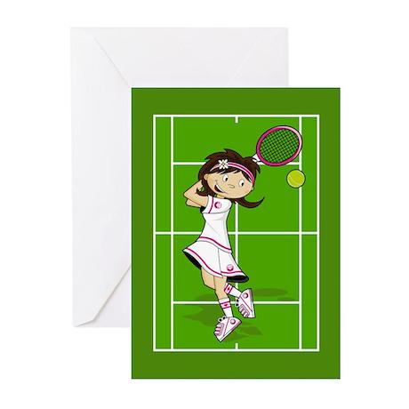 Cute Tennis Girl Greeting Card (Pk of 10)