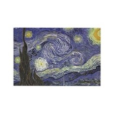 Starry Night Rectangle Magnet (10 pack)