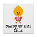 Senior 2011 Chick Tile Coaster