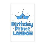 1st Birthday Prince Landon! Mini Poster Print