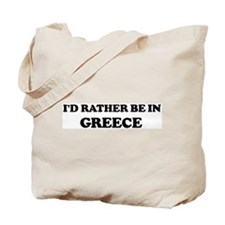Rather be in Greece Tote Bag
