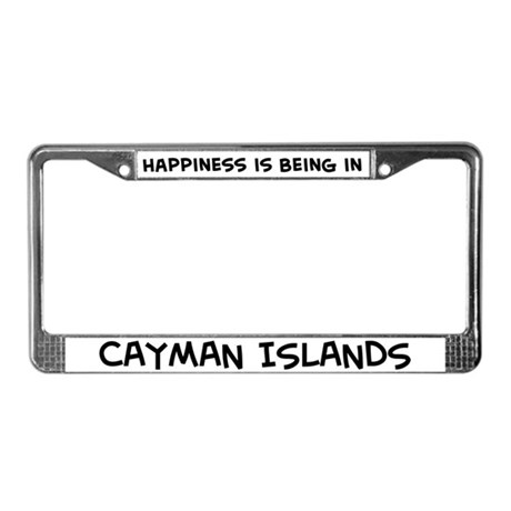 Happiness is Cayman Islands License Plate Frame
