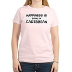 Happiness is Caribbean Women's Pink T-Shirt