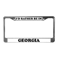 Rather be in Georgia License Plate Frame